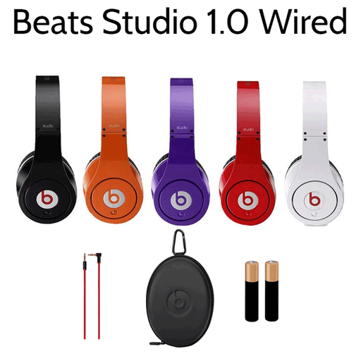 Beats by Dr. Dre Studio 1.0 Wired Headphones - Refurbished