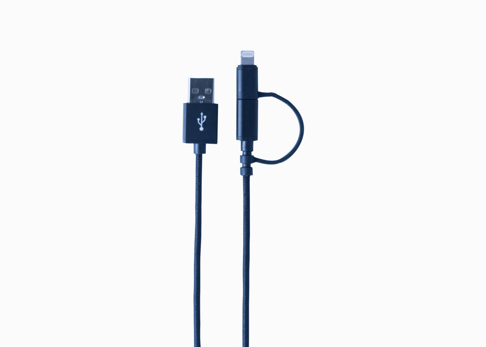 Apple Certified MFi USB to Micro USB + Lightning Charge and Sync Cable 2-in-1 Braided