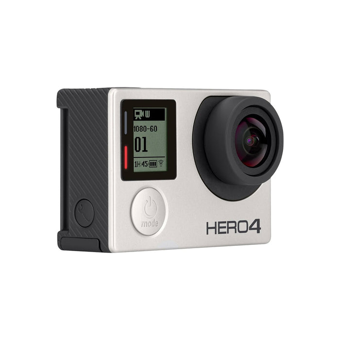 GoPro Hero 4 Silver Action Camera Touch Screen (Silver) - Refurbished