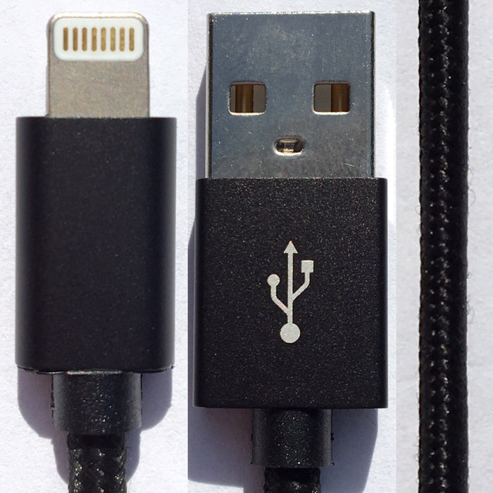 Apple Certified Lighting to USB Charging Data Cable MFi iPhone iPad iPod Cotton