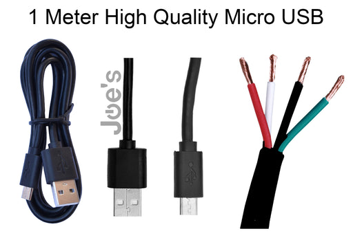 Micro USB Charger Cable Sync Data 1M - Black