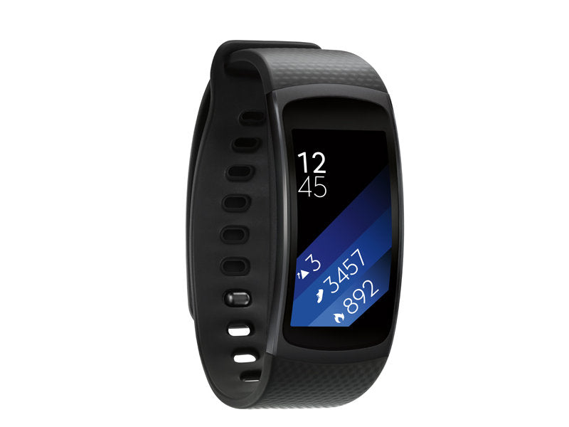 Samsung Fitness Tracker Watch Gear Fit 2 [Large] (Black) - Refurbished