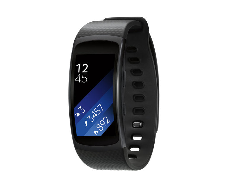 Samsung Fitness Tracker Watch Gear Fit2 (Large) Black [Refurbished]