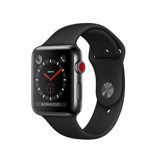Apple Watch Series 3 42MM (GPS + LTE) Space Gray Aluminum Case [Refurbished]