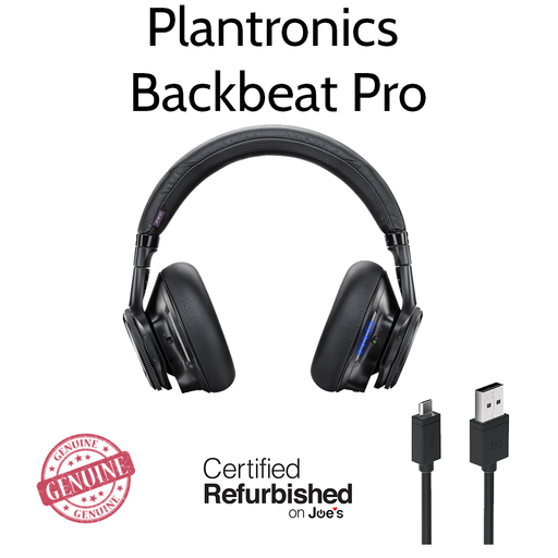 Plantronics BackBeat Pro Bluetooth Noise Cancelling Headphones Black [Refurbished]