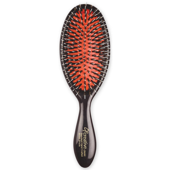 Classic Signature Paddle Natural Boar Bristle Hair Brush- Creative Professional Hair Tools