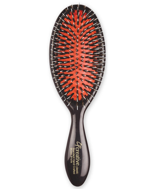 Classic Natural Mixed Bristle Paddle Hair Brush (4 sizes)