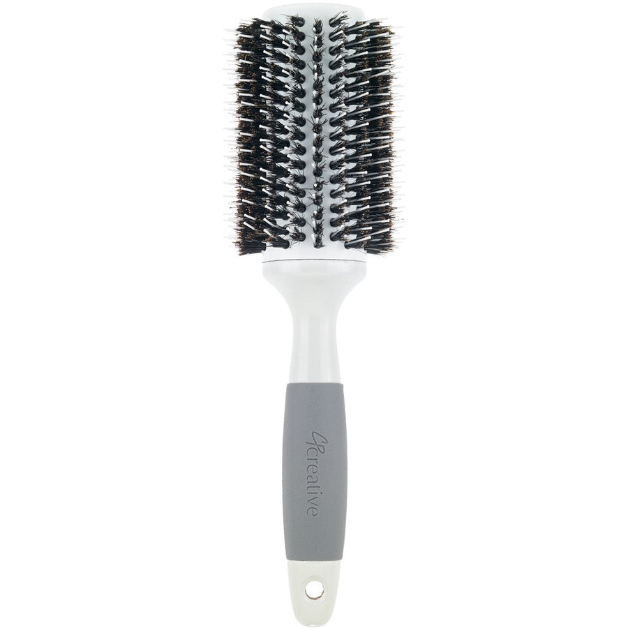 Solid Barrel Mixed Bristle Round Hair Brush