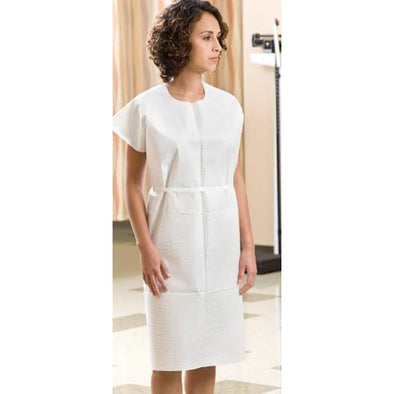 "Disposable 3-Ply GOWN 30"" x 42"" WHITE- 50 per case (PPE) - Creative Professional Hair Tools"