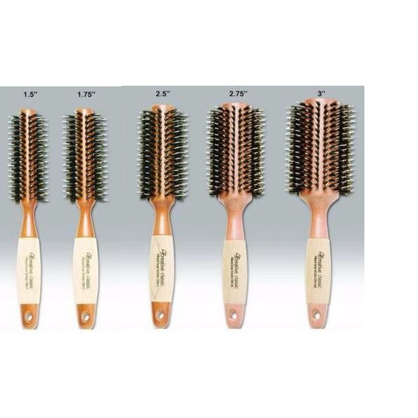 Eco-Friendly Mixed Bristle Round Hair Brush