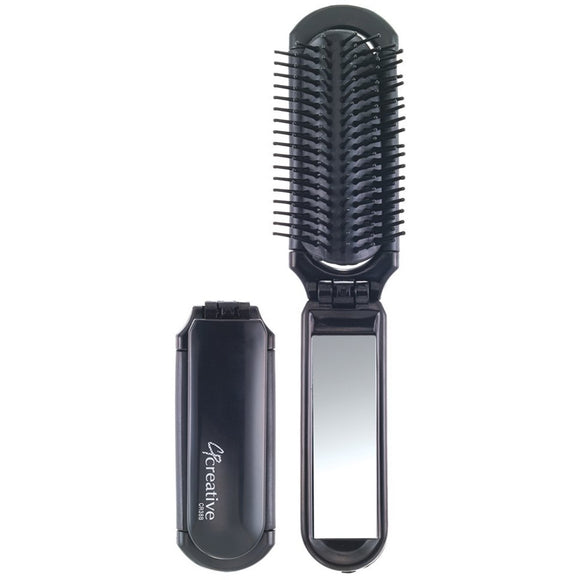 Brushes - Folding Brush With Mirror
