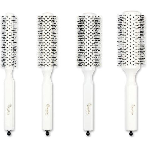 Italian White Pin Hair Brush-Set Of Four