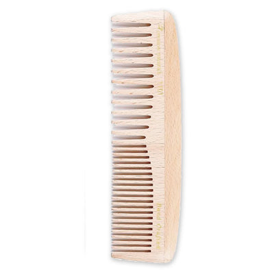 Birch Wood 8 Inch Fine and Medium-Tooth Comb - Creative Professional Hair Tools