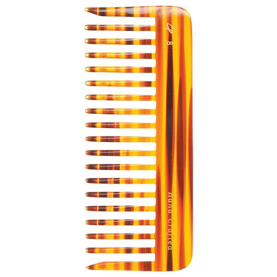 C8 Wide-Tooth 7.5 Inch Tortoise Comb - Creative Professional Hair Tools
