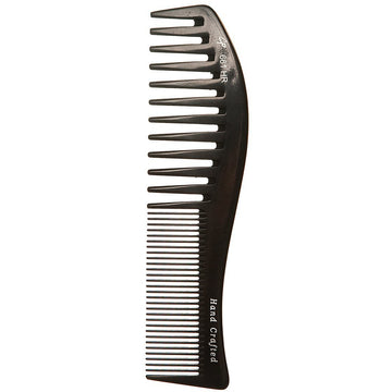 Combs - Curved Fine And Wide Tooth 8.5 Inch Hard Rubber Comb