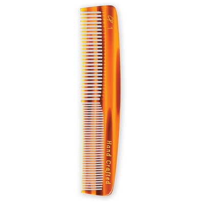 Tortoise Pocket Comb with Medium and Fine Teeth (5.5 in) - Creative Professional Hair Tools