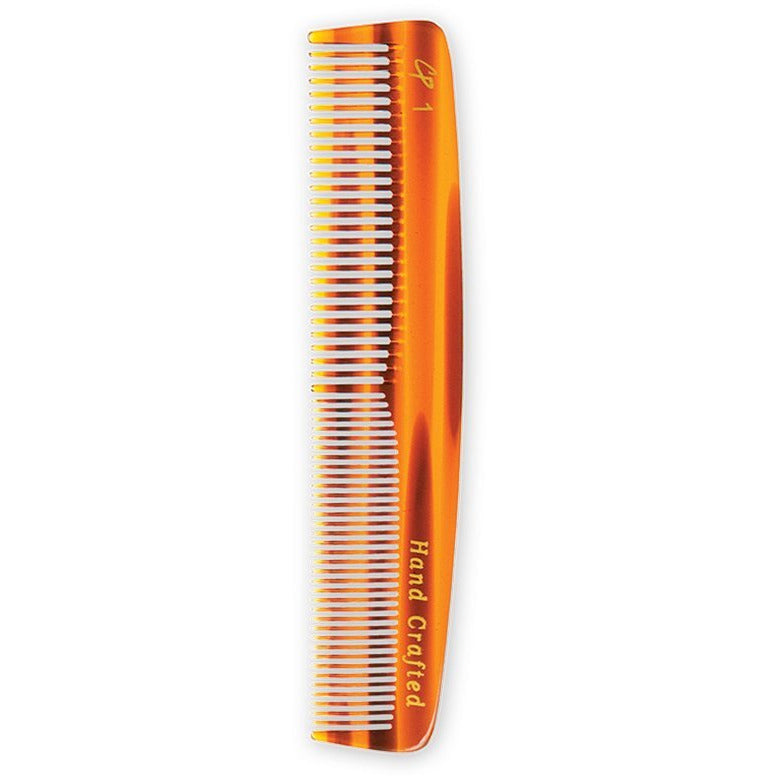 Combs - Tortoise Pocket Comb With Medium And Fine Teeth (5.5 In)