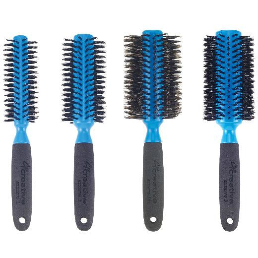 Italian round boar bristle Hair Brush set of four