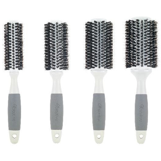Solid Barrel Mixed Bristle Round Hair Brush - Creative Professional Hair Tools