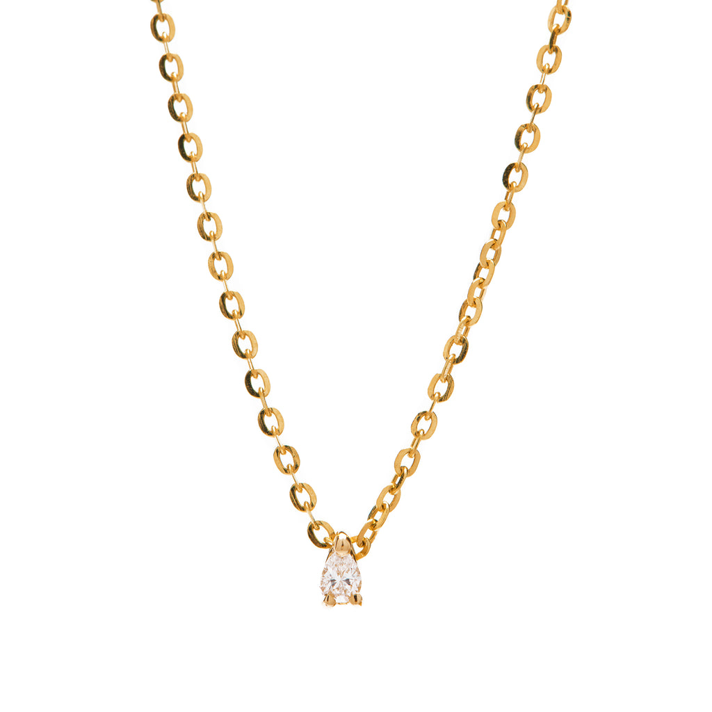 Lucy and Mui Teardrop Diamond Necklace in Gold