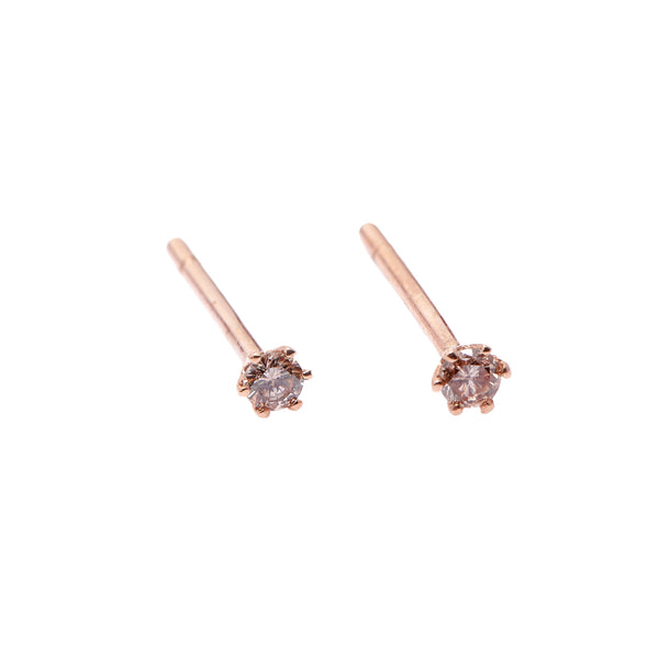 Seis Classic Diamond Earrings // Rose Gold