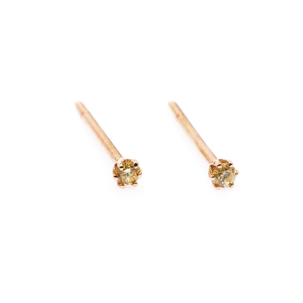 Seis Classic Diamond Earrings // Gold