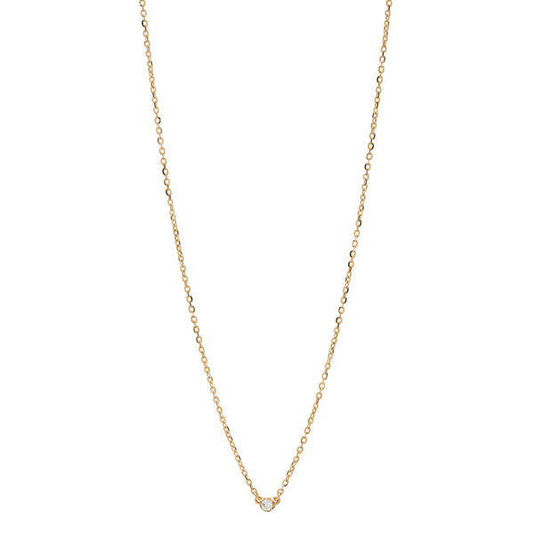 Seis Classic Diamond Necklace // Gold