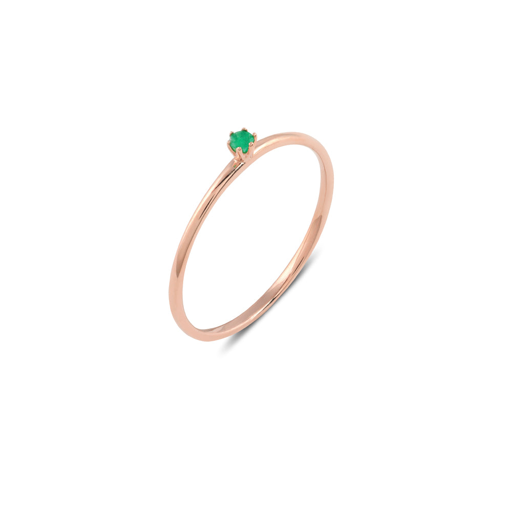 Seis Classic Emerald Ring // Rose Gold