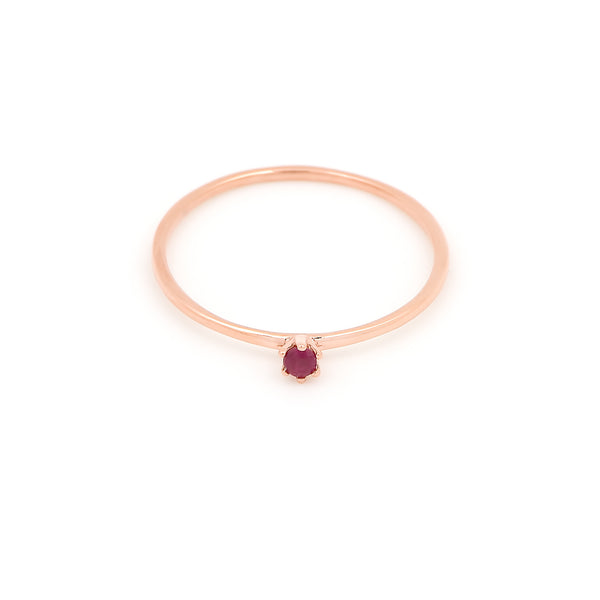 Seis Classic Ruby Ring // Rose Gold