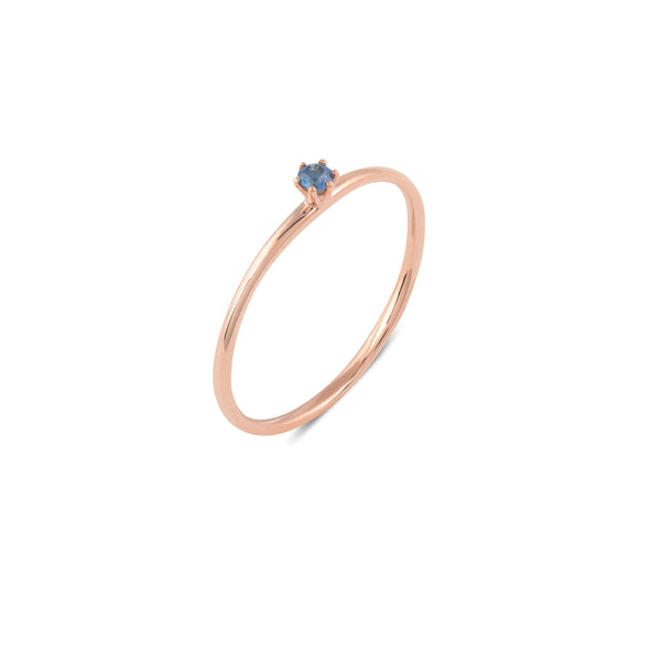 Seis Classic Sapphire Ring // Rose Gold