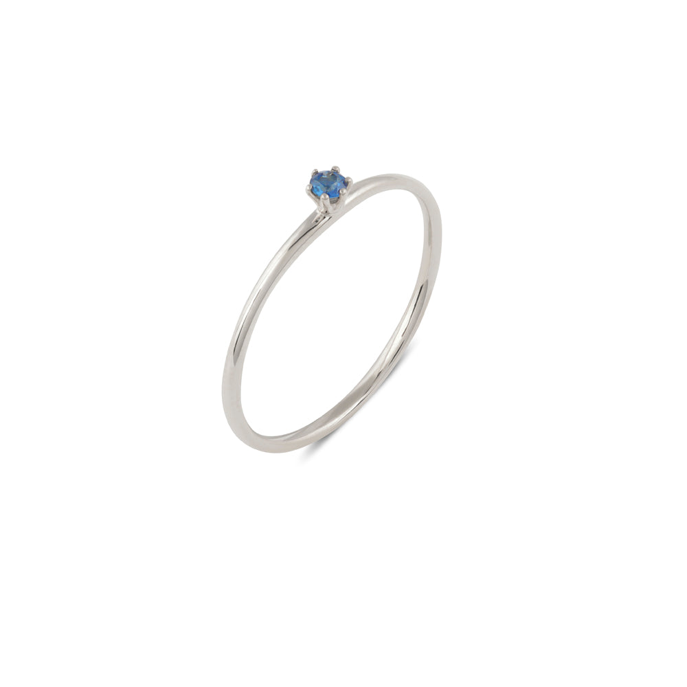 Seis Classic Sapphire Ring // White Gold
