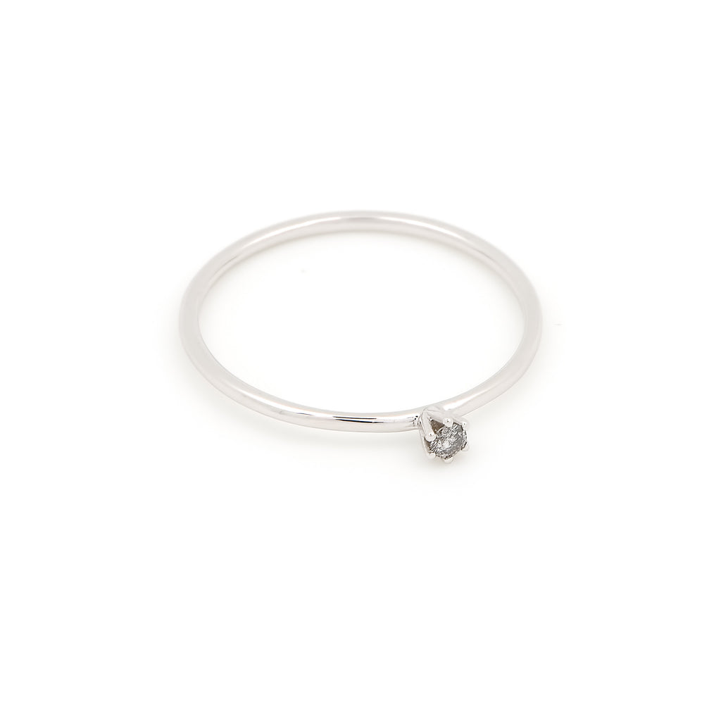 Seis Classic Diamond Ring // White Gold