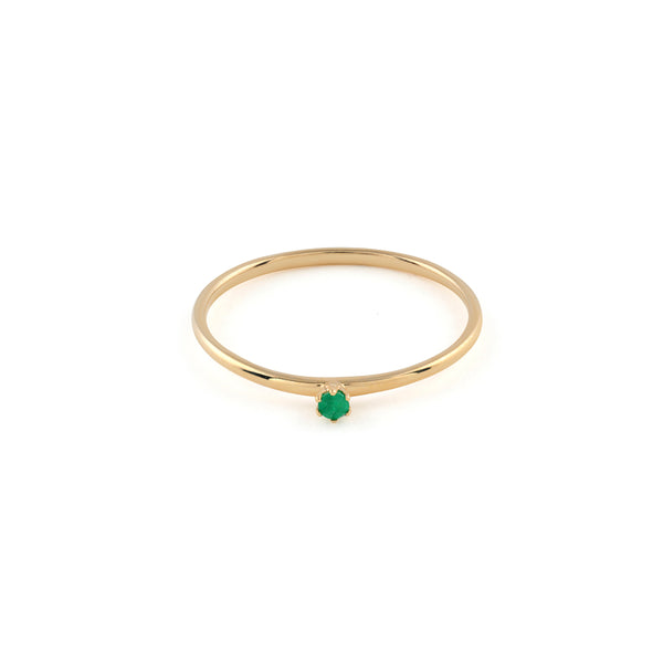 Seis Classic Emerald Ring // Gold