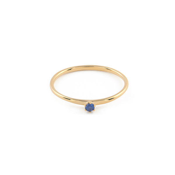 Seis Classic Sapphire Ring // Gold