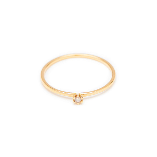 Seis Classic Diamond Ring // Gold