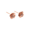 Tea Rose Diamond Earrings // Rose Gold