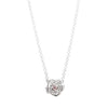 Tea Rose Diamond Necklace // White Gold
