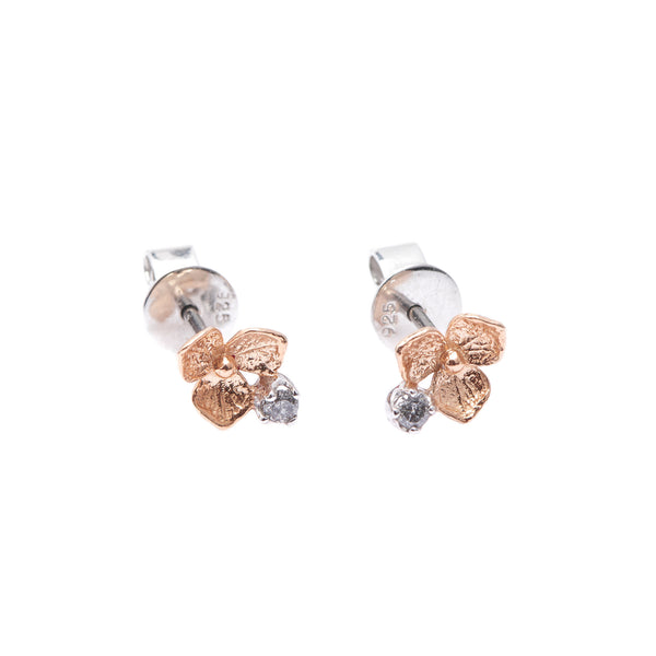Hydrangea Diamond Earrings // Rose Gold
