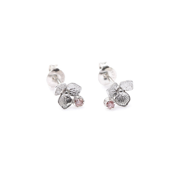 Hydrangea Diamond Earrings // White Gold