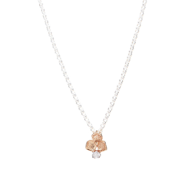 Hydrangea Diamond Necklace // Rose Gold