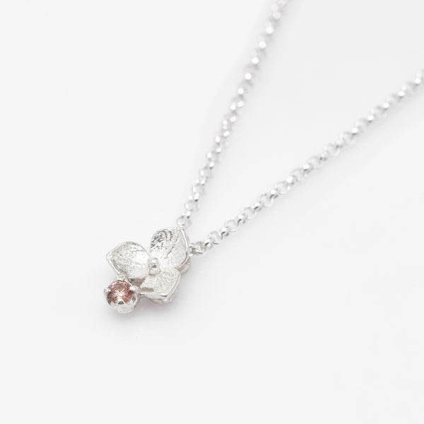 Hydrangea Diamond Necklace // White Gold