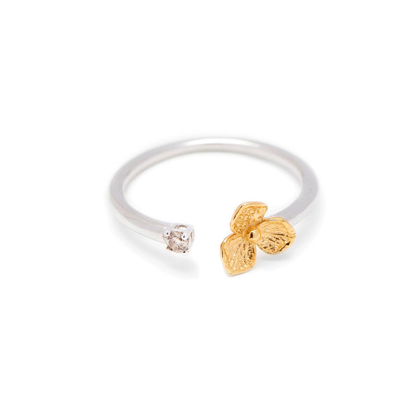 Hydrangea Open Diamond Ring // Gold