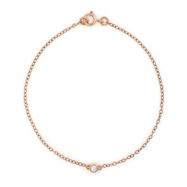 Bead Diamond Bracelet // Rose Gold - Lucy & Mui