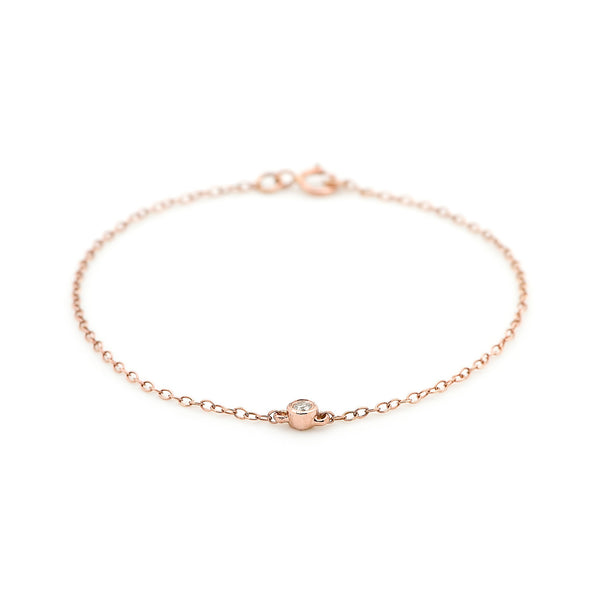 Bead Diamond Bracelet // Rose Gold