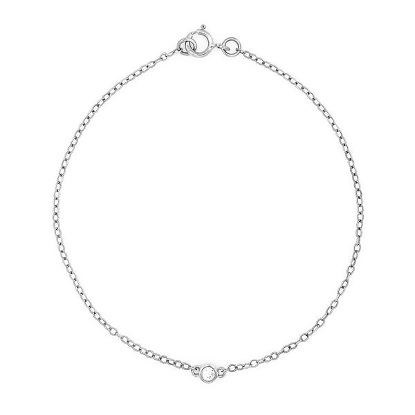 Bead Diamond Bracelet // White Gold - Lucy & Mui