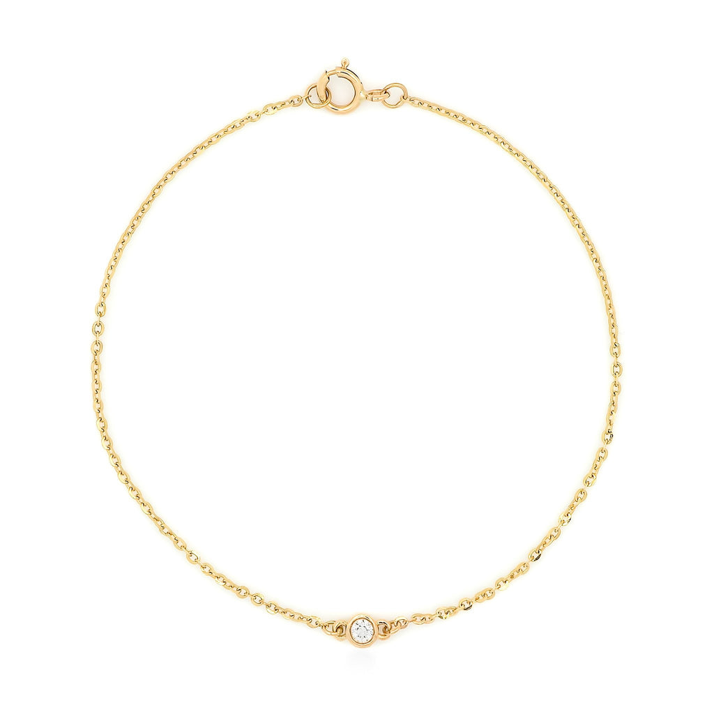 Bead Diamond Bracelet // Gold - Lucy & Mui