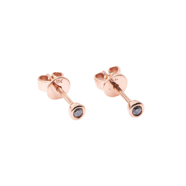 Bead Diamond Earrings // Rose Gold