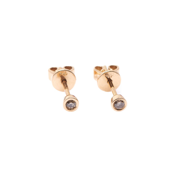 Bead Diamond Earrings // Gold