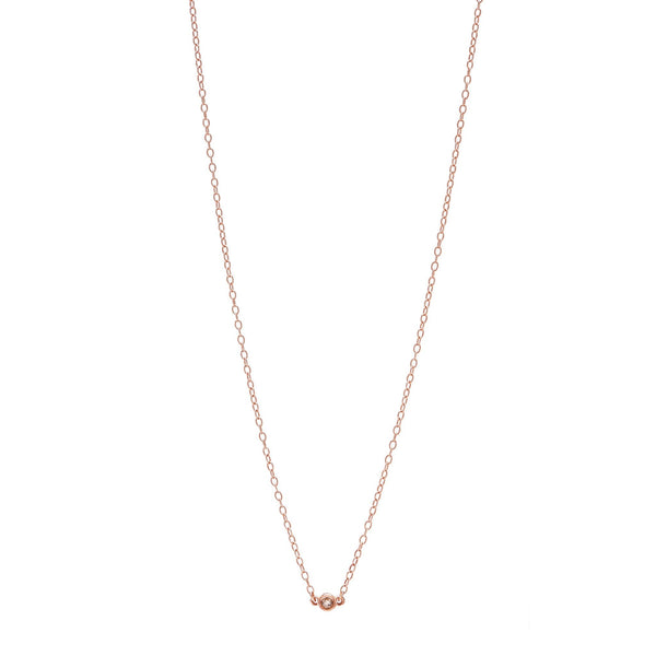 Bead Diamond Necklace // Rose Gold - Lucy & Mui