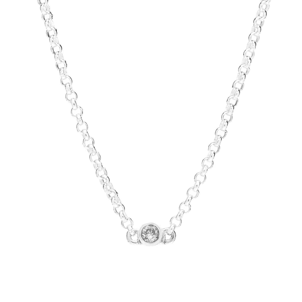 Bead Diamond Necklace // White Gold - Lucy & Mui